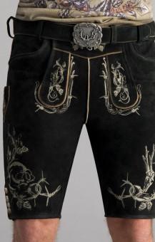 Lederhose Laurenz in schwarz