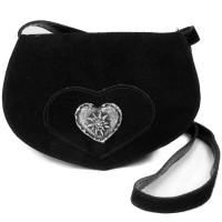 Wildledertasche in Herzform klein braun