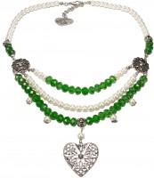 Vorschau: Collier Pauline grün-weiß