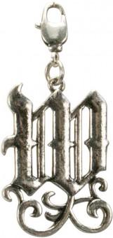 Buchstabe W - Trachtenanhänger altsilber
