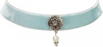 Trachten Kropfband mit Ornament hellblau