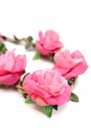 Vorschau: Haarband mit Rosen in Pink