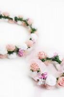 Preview: Haarkranz und Armband Set rosa
