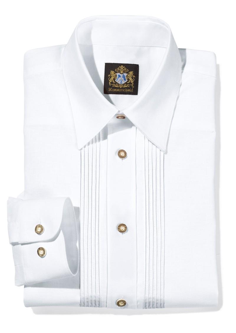 Herrenhemd mit feinen Streifen weiß