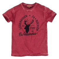 Preview: T-shirt Lederhosen Rocker´ rot