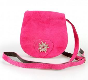 Schultertasche Wildleder pink