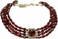 Vorschau: Trachten-Perlenkette Ellie bordeauxrot