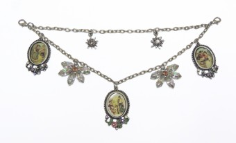 Charivari Chain with Amulets and Flower Charms - Long