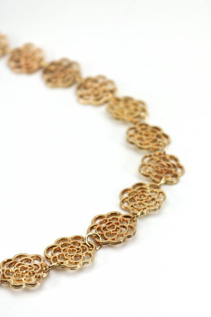 Haarband mit goldenen Metallblüten