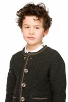 Vorschau: Kinderstrickjacke Malo grau