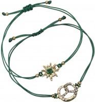 Vorschau: Trachten Armband Set grün