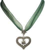 Vorschau: Organza Trachtenkette Maria grün