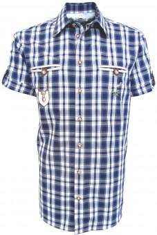 Herrenhemd Fidl dunkelblau