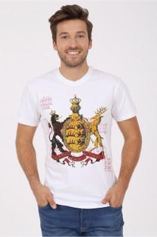 T-Shirt Furchtlos und Treu weiß
