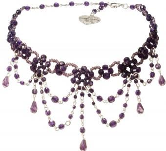 Perlenkropfkette Annabelle lila