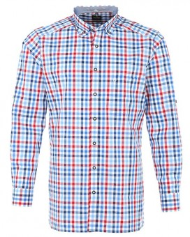 Olymp Shirt Traditioneel shirt modern fit blauw / rood