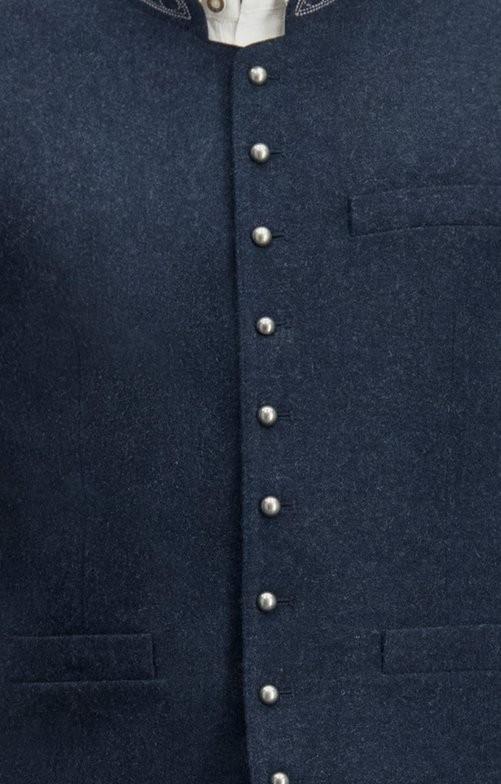 Tradycyjna kamizelka Levon w kolorze niebieskim