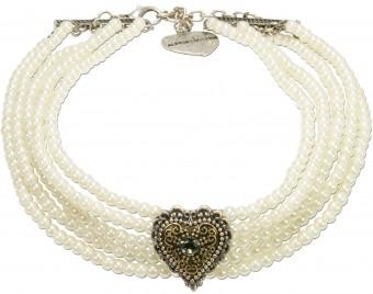 Perlen-Kropfkette Lara cremeweiß