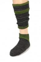 Trachtensocken Loferl anthrazit-grün