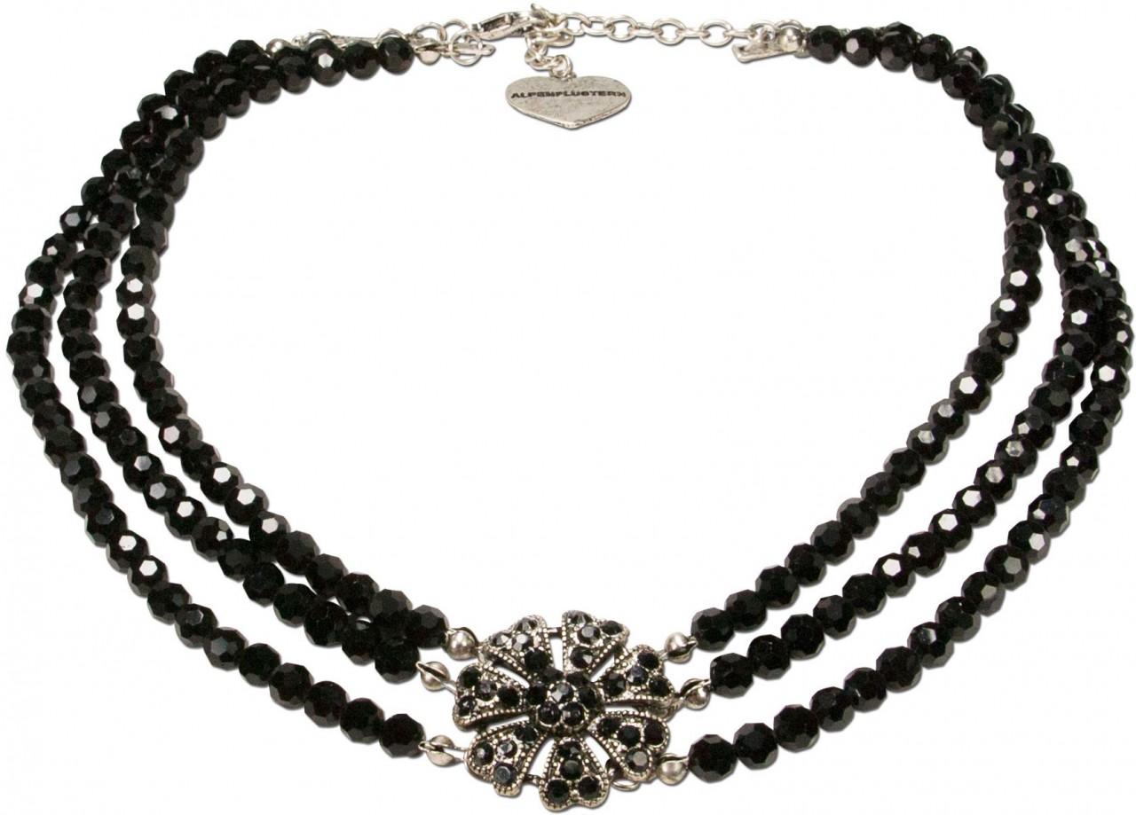 Perlenkette Madita schwarz
