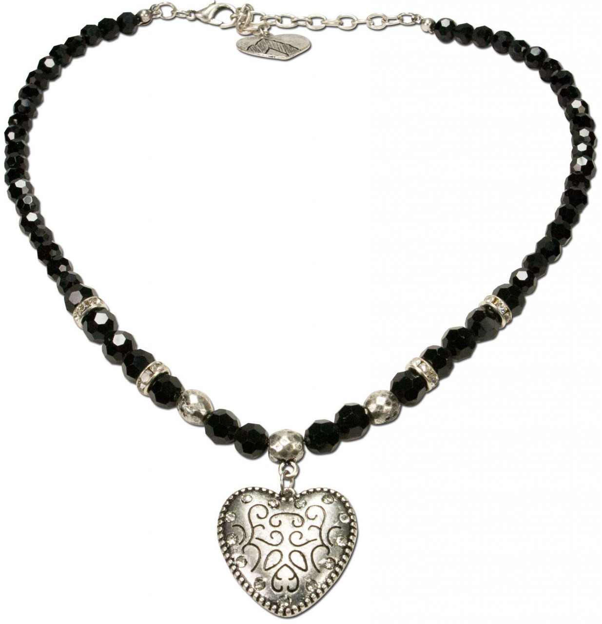 Pearl necklace Gretl black