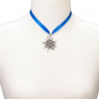 Satin-Trachtenkette Marlene blau