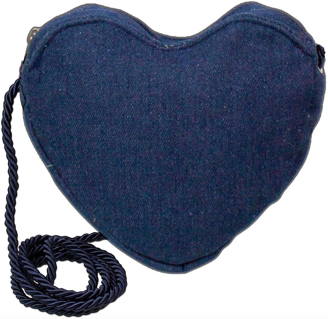 Herz Trachtentasche jeansblau