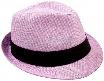 Trachten Straw Hat, Rose Pink