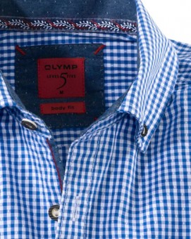 Olymp Shirt Traditioneel shirt blauw / wit