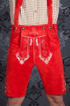 Lederhose Sebastian rouge
