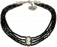 Vorschau: Perlenkropfkette Sissi schwarz