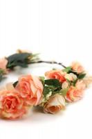 Preview: Haarkranz mit orangen Blüten