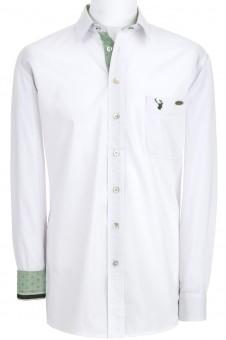 Herrenhemd Askot weiß-grün