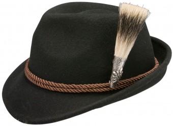 Trachten Hat, Edelweiß Badge, Black