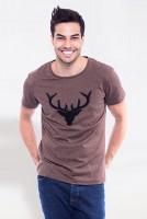 Vorschau: T-Shirt Wilder Hirsch braun