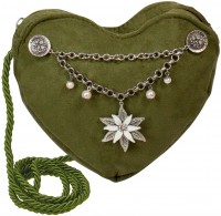 Vorschau: Herztasche mit Edelweiß Charivari grün