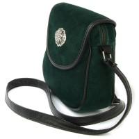 Vorschau: Schultertasche Ramona aus Wildleder tannengrün