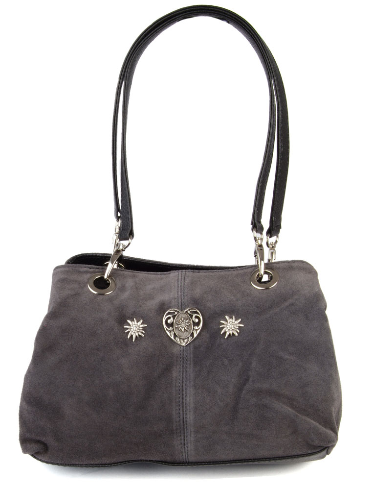 akribische Färbeprozesse neues Konzept klassisch Handtasche Wildleder grau