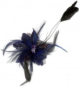 Federbrosche Julia blau