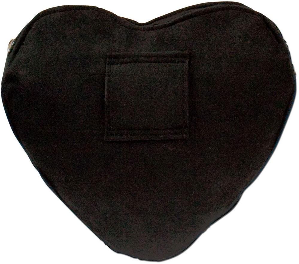 Spatzl Herz Dirndltasche schwarz/rot