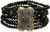 Vorschau: Trachten-Perlenarmband Lorelei schwarz
