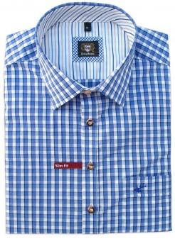 Trachtenhemd Marlo blau