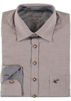 Herrenhemd Wiggerl braun-grau