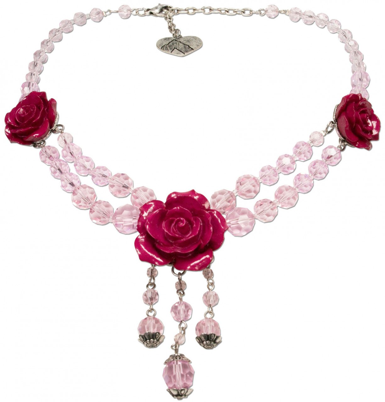 Pearl necklace Jolina pink