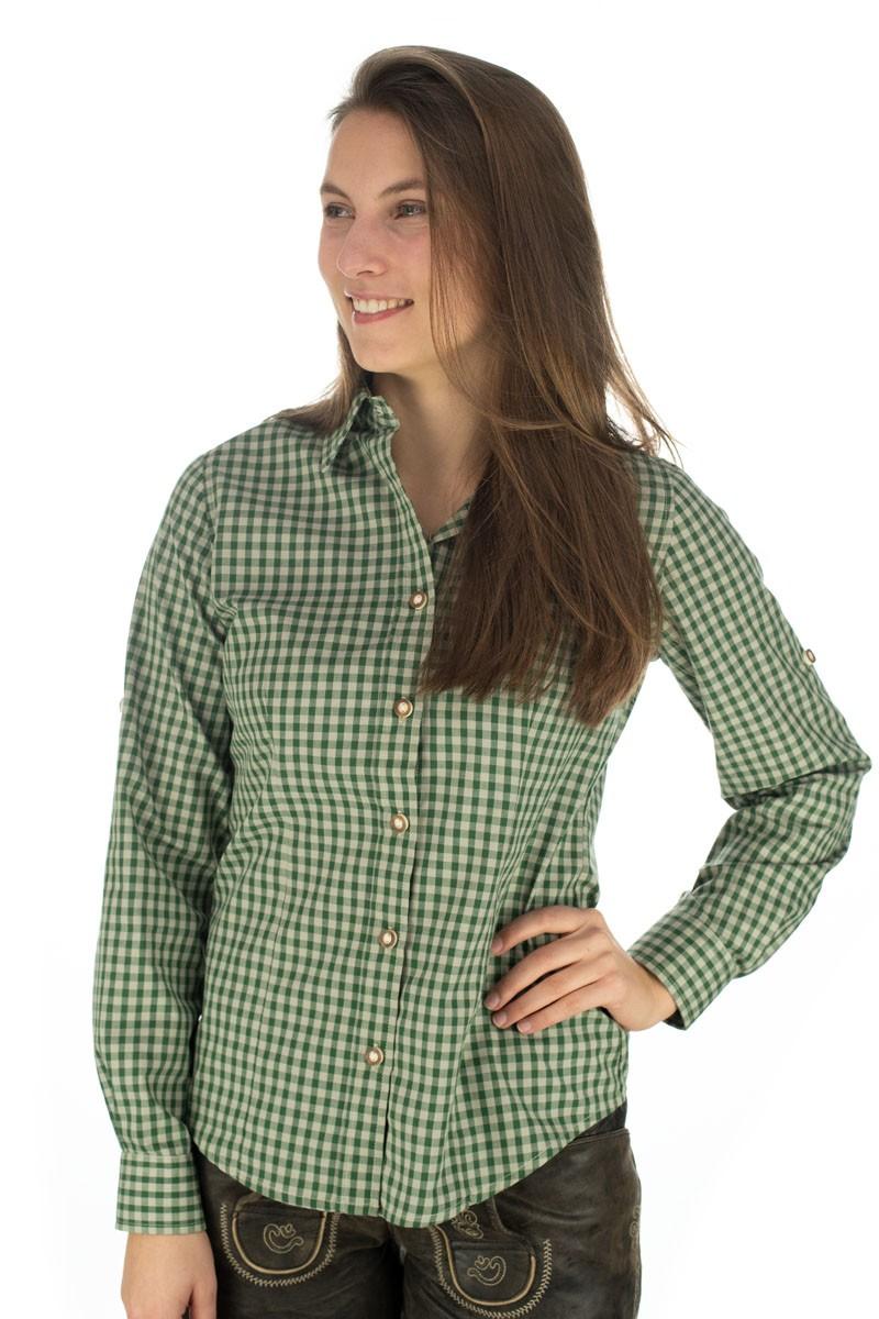 Damska bluzka Caroline jodłowo-zielona