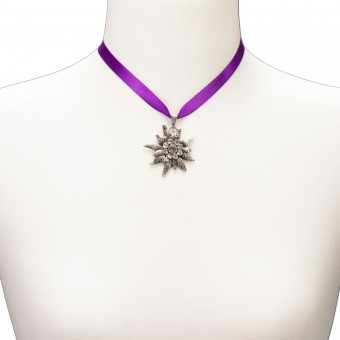 Satin Necklace Marlene, Purple
