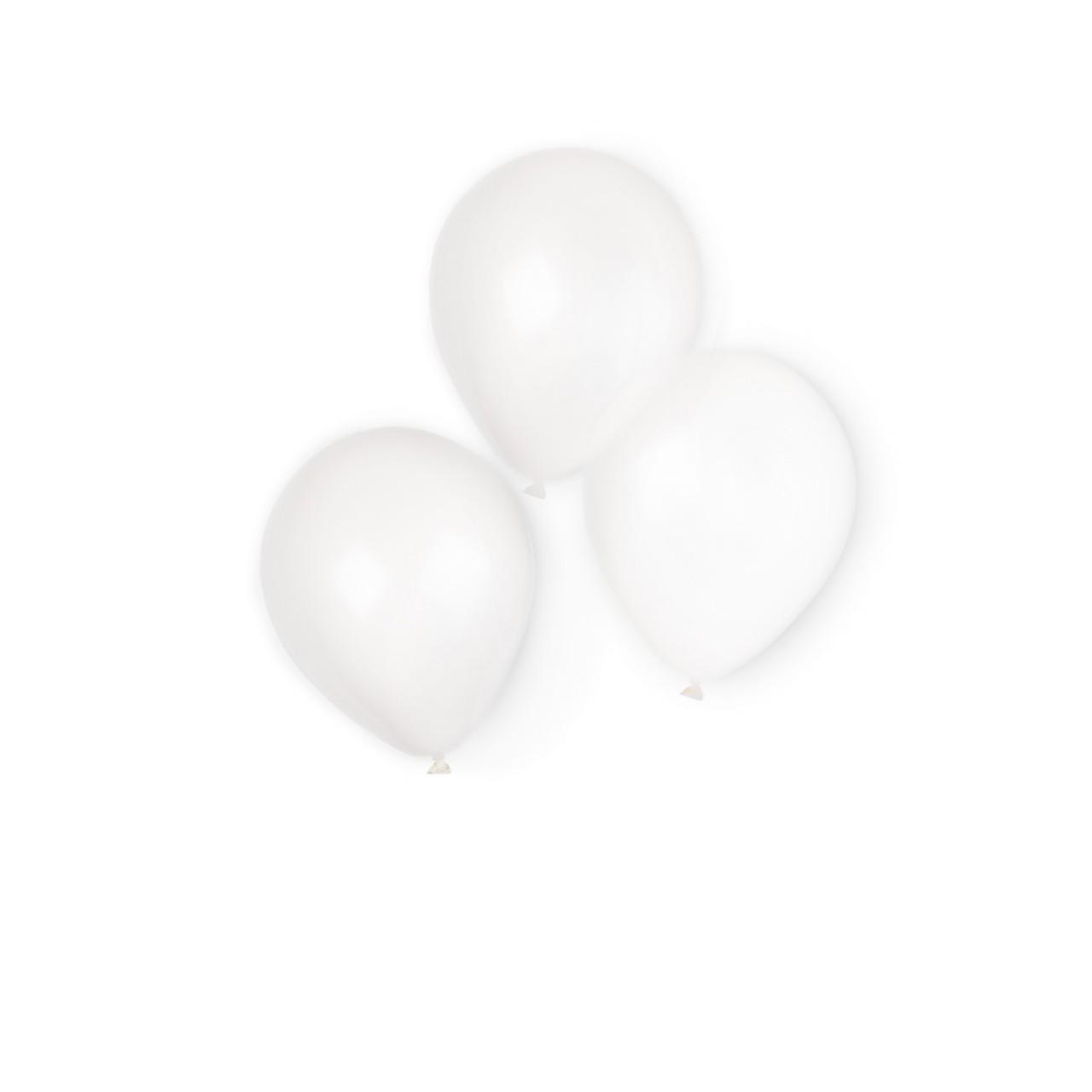 10 witte latexballonnen 20,3cm