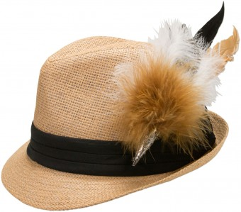 Trachten Straw Hat, Natural Colour