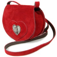 Vorschau: Wildledertasche in Herzform klein rot