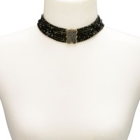 Preview: Pearl Choker Necklace Ida, Black